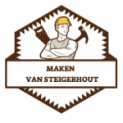Maken van steigerhout logo