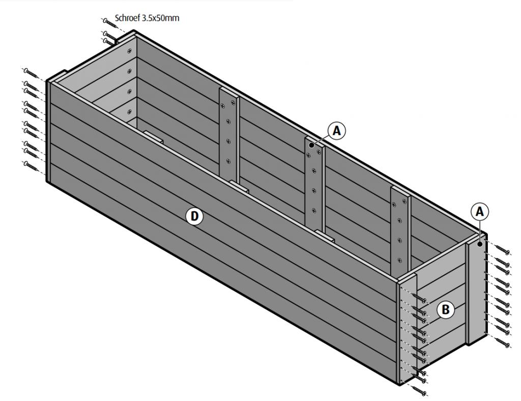 steigerhout kastje monteren