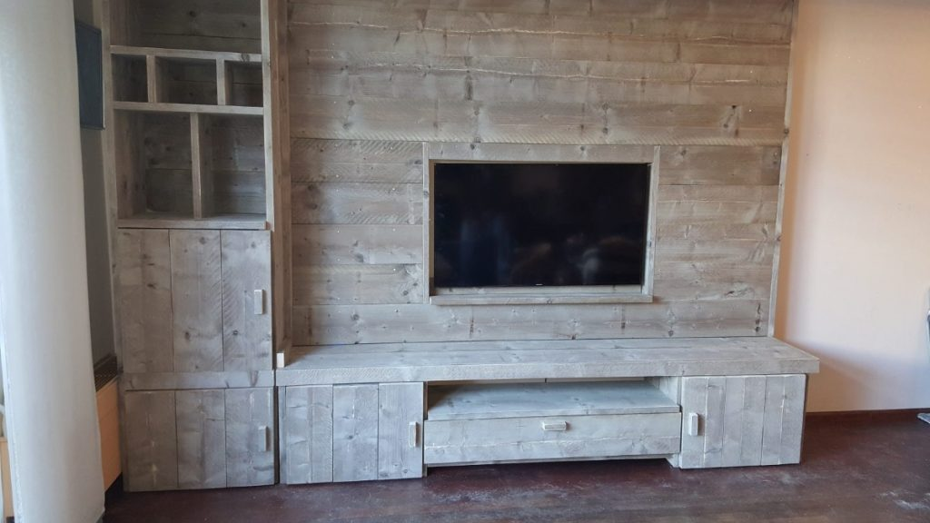 tv wand steigerhout bouwtekening header
