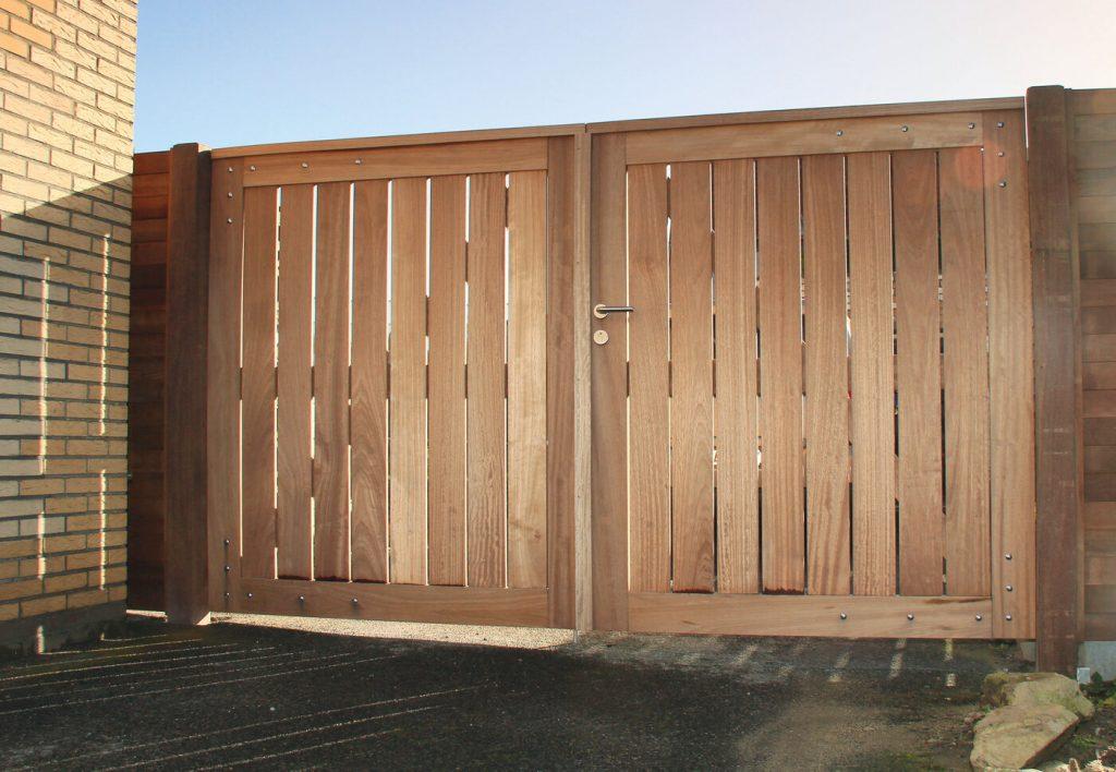 dubbele houten poort zelf maken